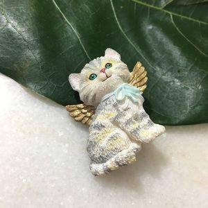 Vintage cat brooch